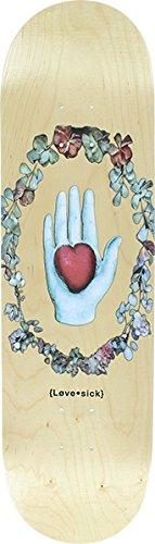 LOVESICK HAND & HEART WREATH SKATE DECK-8.47 NATURAL w/ MOB GRIP Lovesick Heart