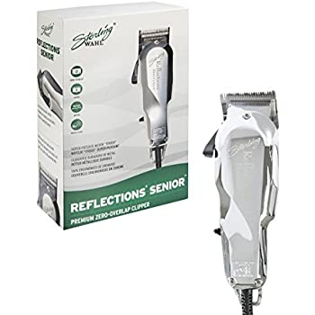 Wahl Professional Reflections Senior Clipper  8501 Classic Clipper with  Metal Housing and Chrome Lid Cool Running v9000 Motor for Premium Fades and  Blends ... aad9d78f58