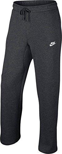 Nike Mens Open Hem Fleece Pocket Sweatpants Dark Grey/White 823513-071 Size Medium ()
