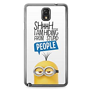 Minion Samsung Galaxy Note 3 Transparent Edge Case - L