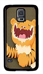 Galaxy S5 Cases, Samsung Galaxy SV Covers Cute Cartoon Tiger Custom Designr Samsung Galaxy S5 / SV Case Cover - Polycarbonate - Black