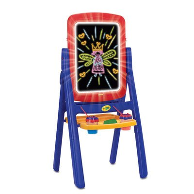 Grow'n Up Folding Marker Tray Double Sided Board Easel, Yellow/Red/Blue, 20