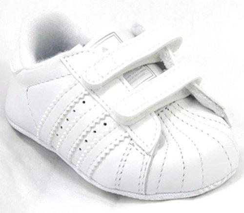 aef265ac0 adidas Superstar 2 CMF Crib G12024 White Leather Velcro Cute Baby Rare New  BNIB  Amazon.co.uk  Shoes   Bags