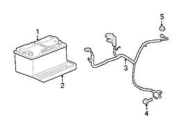 Mopar 5604 4131AF, Battery Cable Harness