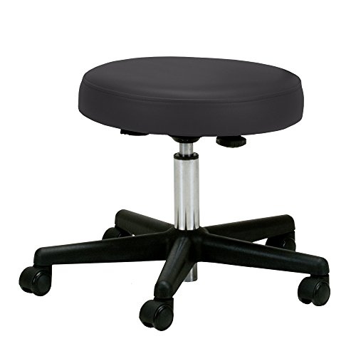 Drafting Stools 27 (EARTHLITE Pneumatic Massage Rolling Stool with Backrest - No Leaking (vs. Hydraulic), Adjustable, CFC-Free, Salon Medical Spa Facial Chair)