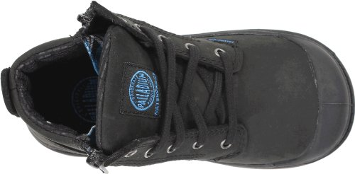 PALLADIUM Kinder - PAMPA HI LEATHER GUSSET INFANTS - black dark gum