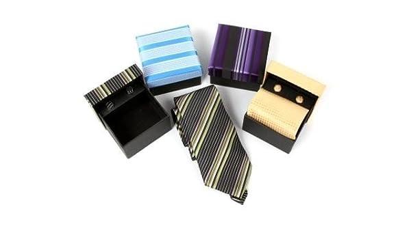 Lote de 20 Set de Corbata Normal + Gemelos En Estuche de Regalo ...