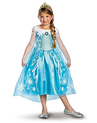 Disguise Girls Disney Frozen Elsa Deluxe Costume