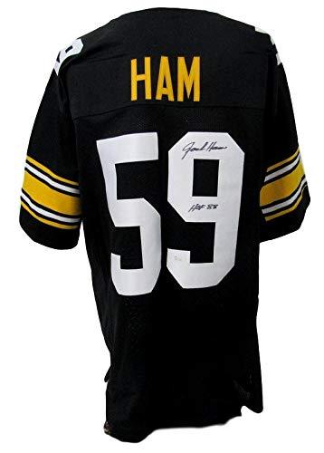 Jack Ham Pittsburgh Steelers Autographed/Signed Black Jersey JSA - Black Jersey Autographed