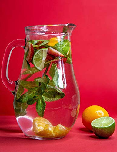Notebook: Pitcher fruit drink juicy vitamin citrus fruit grapefruit lemon lemonade liquid juice