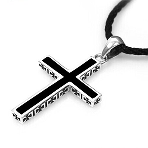 Generic 925_ sterling silver cross necklace pendant retro man boy men _and_ women girl couple jewelry _Thai_ silver pendant necklace _send_ gift _boxes