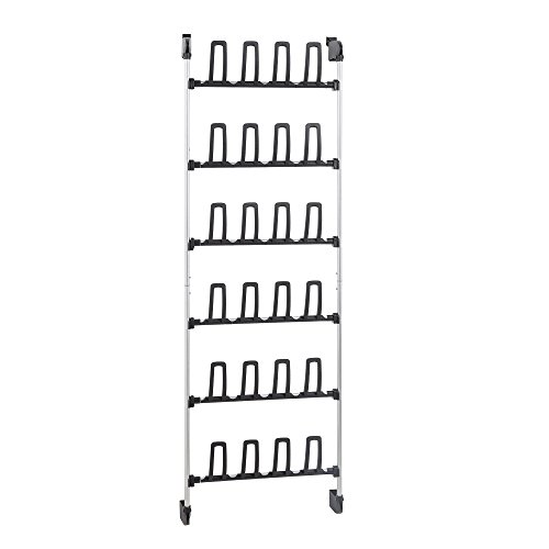 Neu Home 17718W-1 Shoe Rack, Black Silver