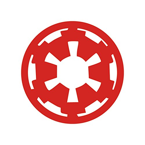 (Athena Star Wars Imperial Cog Empire Vader Sith Red Decal Vinyl Window Auto Truck SUV Waterproof Bumper Sticker Size: 6
