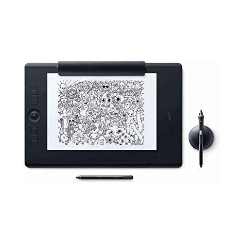 chollos oferta descuentos barato Wacom PTH 860P Intuos Pro L Paper Edition Tableta gráfica con lápiz digital Pro Pen 2 y Finetip Pen Diseño en papel y digital Portalápices Bluetooth Compatible con Windows y MacOS Negro