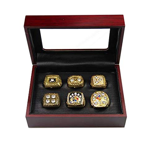 (PIT Steelers Championship Rings By Years and Display Box Set (Display Box Set, 11) )