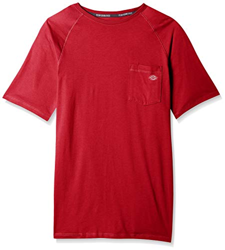 - Dickies Men's Short Sleeve Performance Cooling Tee, English red, XL