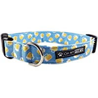 Beer Dog Collar/Cat Collar for Pets in Size Medium with Extra Width 1 Inch Wide long 12-19 Inches Long
