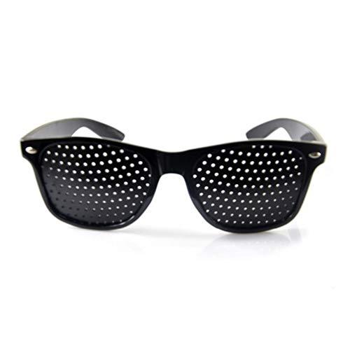 - Qlychee Anti-Fatigue Myopia Prevention Glasses with Pinholes Black