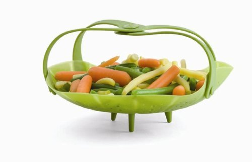 Trudeau Silicone Vegetable Steamer with Handles by Trudeau