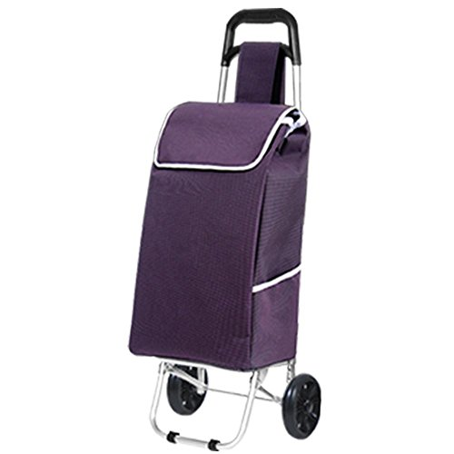MXXYY Lightweight Shopping Trolley, Foldable Aluminum Alloy Shopping Cart with 2 Wheel price