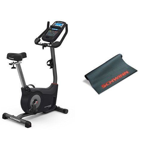 Schwinn 170 Upright Exercise Bike and Mat Bundle