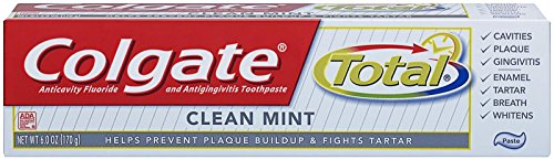 Colgate Total Toothpaste, Clean Mint Paste, 6-Ounce Tube