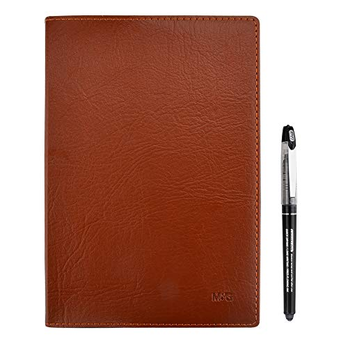 Journal Travel Diary Notebook with Quality Roller Ball Pen, PU Leather Hardcover Writing Drafting Notebook Ideal for Home, Office and School Use -Lined Page, 240 Pages, Size: 5'' X 8.3'', A5, Brown by Jimmidda