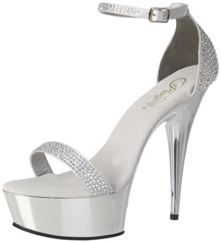 Slv Satin Slv 7 EU 40 Chrome RS Pleaser UK 617RS DELIGHT TSqnwtX