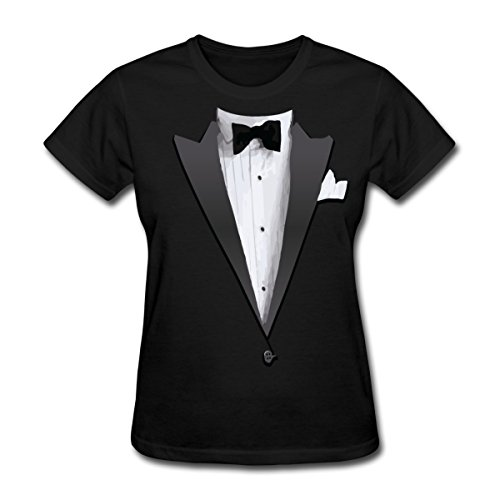 [Tuxedo Costume Bow Tie Women's T-Shirt by Spreadshirt, XXL, black] (Womens Tuxedo Costumes Tshirt)