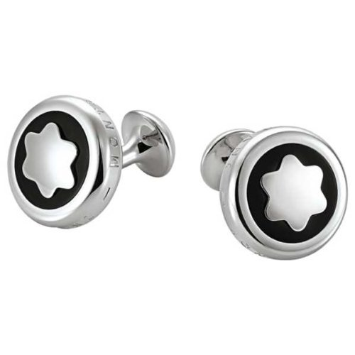 Mont Blanc Men's Classic Collection Cufflinks with Onyx Inlay 102984