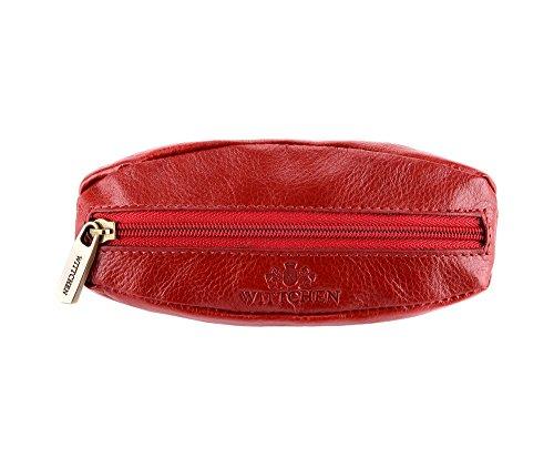 WITTCHEN caso, Rosso, Dimensione: 13x6 cm - Materiale: Pelle di grano - 21-2-021-3