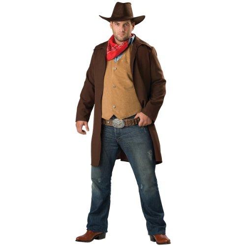 InCharacter Costumes Men's Rawhide Renegade Costume, Brown/Tan, (Brown Rawhide)