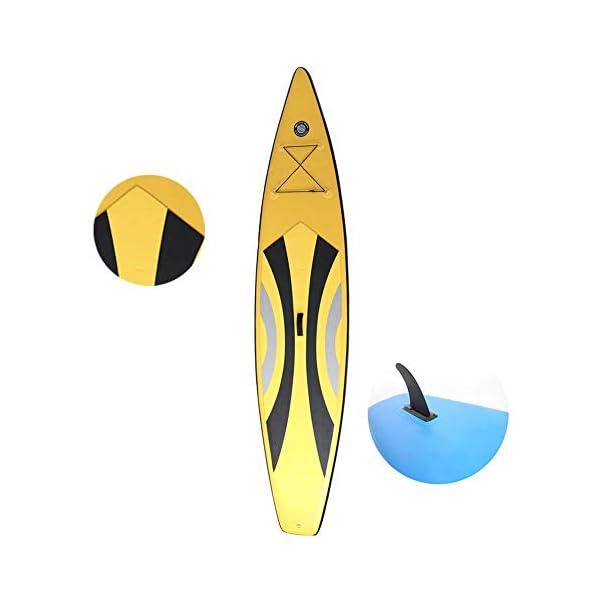Stand Up Paddel Gonfiabile Acqua Fitness SUP Stand Up insieme del bordo Con Lo Zaino Pompa Paddle Guinzaglio adatti… 3 spesavip