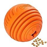 GrayCell Dog Treat Drain Snack Food Ball Interactive IQ Dog Play Toy Dog Treat Dispenser Toy for Medium Large Dogs(Orange)