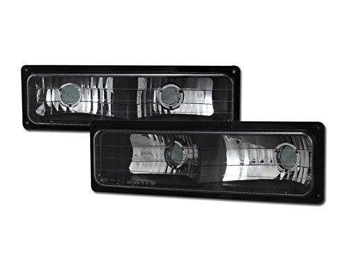 HS Power Black Bumper Lights 1988-2000 For Chevy GMC C10 CK C/K Truck/SUV Clear Lens Signal Lamp DY