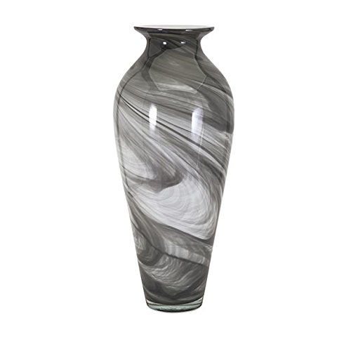 IMAX 47690 Marbleized Oversized Glass Vase by Imax