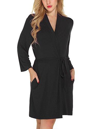 ebb7a37794182 Etopstek Women Bathrobes Breathable Robes Soft Kimono Lightweight Short  Cotton Loungewear Hotel Spa Robes