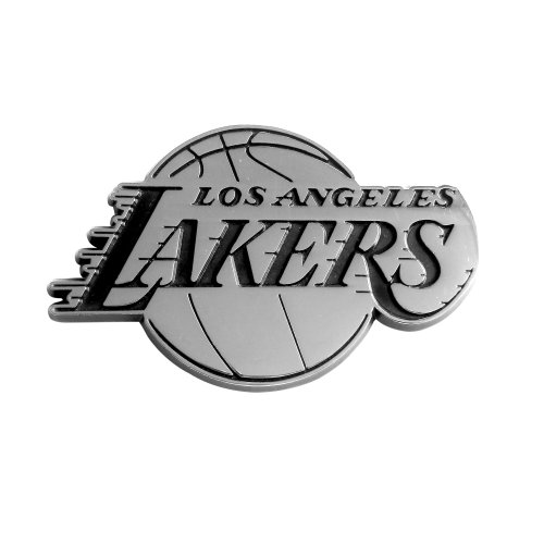 Los Angeles Lakers Metal - FANMATS NBA Los Angeles Lakers Chrome Team Emblem