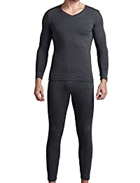 Godsen Mens Two Piece Long Johns Thermal Underwear Set