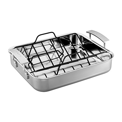 Demeyere Industry 5-Ply 15.7 X 13.3'' Stainless Steel Roasting Pan by Demeyere