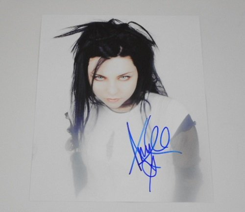 Evanescence Amy Lee Beautiful Signed Autographed 8x10 Glossy Photo Loa Beautiful Autographed Photo