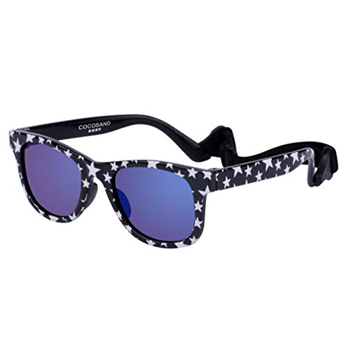 COCOSAND Gift Set Navigator Toddler Baby Sunglasses with Straps BPA free 0-24months ()