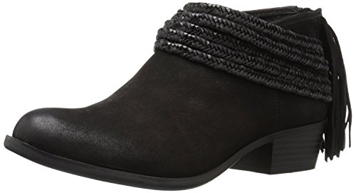 BCBGeneration Womens Craftee Leather Round Toe Ankle Fashion, Black, Size 5.0