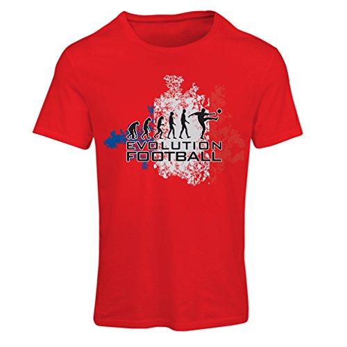 lepni.me Camiseta mujer Fútbol de evolución - Francia, campeonato de Rusia 2018, copa del mundo - camisa del admirador de equipo del fútbol francesa: ...