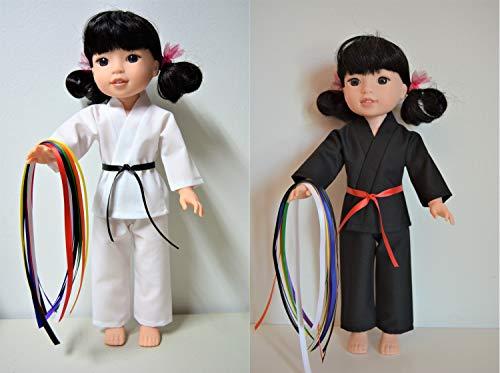 - Handmade Doll Clothes Karate Uniform Gi Judo TKD fit 14.5