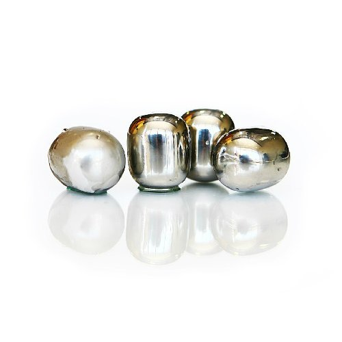 SPARQ Wine Pearls -Set of 4 Hand Polished Stainless Steel Metal Chillers by SPARQ Home