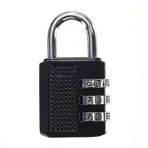 SODIAL(R) 3 Dial Digit Combination Padlock Laptop Bag Toolbox Suitcase Travel Luggage - Tiffany Padlock