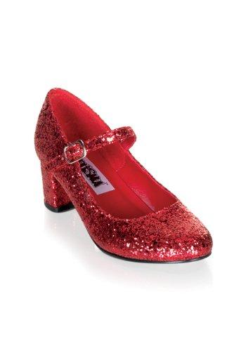 Funtasma by Pleaser Women's Schoolgirl-50 Mary Jane,Red Glitter,9