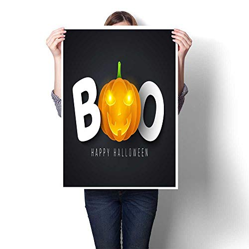 wall hangings Message for Halloween boo Festive poster