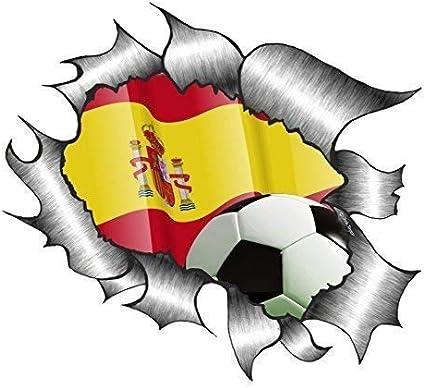 Grande Rasgado Metálico España Bandera Española Equipo de Fútbol ...